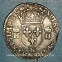Monnaies François II (1559-1560). Monnayage au nom d'Henri II. Teston 2e type. 1559 K. Bordeaux