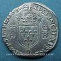 Monnaies François II (1559-1560). Monnayage au nom d'Henri II. Teston, 2e type, 1560 D. Lyon