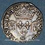 Monnaies Henri II (1547-1559). 1/2 teston, 2e type, 1557 M. Toulouse