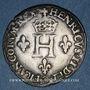 Monnaies Henri II (1547-1559). Gros de six blancs dit gros de Nesle, 1550A. Hôtel de Nesle