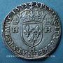 Monnaies Henri II (1547-1559). Teston, 2e type, 1553 H. La Rochelle