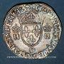Monnaies Henri II (1547-1559). Teston, 2e type, 1554 D. Lyon