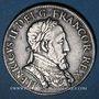 Monnaies Henri II (1547-1559). Teston frappé au moulin de Paris, 4e type, 1557A