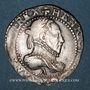 Monnaies Henri III (1574-1589). 1/2 franc au col légèrement dentelé 1587 A