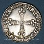 Monnaies Henri III (1574-1589). 1/4 d'écu 1583 C et point 19e. Saint-Lô