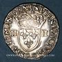Monnaies Henri III (1574-1589). 1/4 d'écu 1583C et point 19e. Saint-Lô