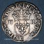Monnaies Henri III (1574-1589). 1/4 d'écu 1586 C et point 19e. Saint-Lô