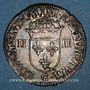 Monnaies Henri III (1574-1589). 1/4 d'écu 1587C. Saint-Lô