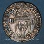Monnaies Henri III (1574-1589). 1/4 d'écu 1588 T. Nantes
