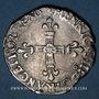 Monnaies Henri III (1574-1589). 1/4 écu 158(2?). Rennes