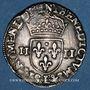 Monnaies Henri III (1574-1589). 1/4 écu 1585 L. Bayonne
