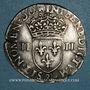Monnaies Henri III (1574-1589). 1/4 écu 1587. Annelet 11e avers et revers. Rennes