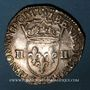 Monnaies Henri III (1574-1589). 1/4 écu 1589 H. La Rochelle