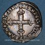 Monnaies Henri III (1574-1589). 1/4 écu 1589 L. Bayonne