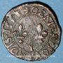 Monnaies Henri III (1574-1589). Denier tournois 15(85?) E. Tours