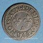 Monnaies Henri III (1574-1589). Denier tournois 1579 A