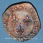 Monnaies Henri III (1574-1589). Double tournois 1586 H. La Rochelle