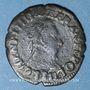 Monnaies Henri III (1574-1589). Double tournois 1588 D. Lyon