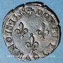 Monnaies Henri III (1574-1589). Double tournois 1588 G. Poitiers