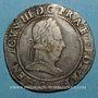 Monnaies Henri III (1574-1589). Franc d'argent au col plat 1578 G. Poitiers