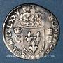 Monnaies Henri III (1574-1589). Monnayage au nom de Ch IX. 1/2 teston, 8e type, 1575 M et point 5e. Toulouse