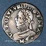 Monnaies Henri III (1574-1589). Monnayage au nom de Ch IX. 1/2 teston, 8e type, 1575M et point 5e. Toulouse