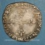 Monnaies Henri III (1574-1589). Monnayage au nom de Charles IX. Double sol parisis illégal. 1574 N et point 4
