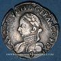 Monnaies Henri III (1574-1589). Monnayage au nom de Charles IX. Teston, 1er type, 1575. Rennes. Lég. fautive