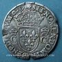 Monnaies Henri III (1574-1589). Monnayage au nom de Charles IX. Teston, 8e type, 1575 B. Rouen