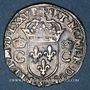 Monnaies Henri III (1574-1589). Monnayage au nom de Charles IX. Teston, 8e type, 1575 M et point 5e. Toulouse