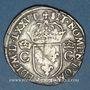 Monnaies Henri III (1574-1589). Monnayage au nom de Charles IX. Teston, 8e type, 1575M. Toulouse
