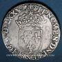 Monnaies Henri III (1574-1589). Monnayage au nom de Charles IX. Teston, 9e type, 1575 D. Lyon