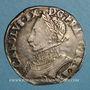 Monnaies Henri III (1574-1589). Monnayage au nom de Charles IX. Teston 9e type 1575 D. Lyon