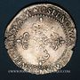 Monnaies Henri III (1575-1589). 1/2 franc au col plat 1587 D. Lyon
