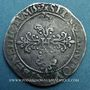Monnaies Henri III (1575-1589). 1/2 franc au col plat 1587 E. Tours