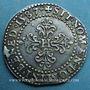 Monnaies Henri III (1575-1589). 1/2 franc au col plat 1587 G. Poitiers