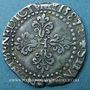 Monnaies Henri III (1575-1589). 1/2 franc au col plat 1587 H. La Rochelle