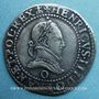 Monnaies Henri III (1575-1589). 1/2 franc au col plat 1587 O. Riom