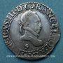 Monnaies Henri III (1575-1589). 1/2 franc au col plat 1587. Rennes