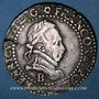 Monnaies Henri III (1575-1589). 1/2 franc au col plat 1587B. Rouen