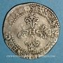 Monnaies Henri III (1575-1589). 1/2 franc au col plat 1588 B. Rouen