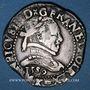 Monnaies Henri III (1575-1589). 1/2 franc au col plat 1589 K. Bordeaux