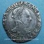 Monnaies Henri III (1575-1589). 1/2 franc au col plat 1589 M. Toulouse