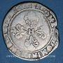 Monnaies Henri III (1575-1589). 1/2 franc au col plat (date et atelier illisibles)