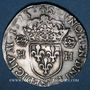 Monnaies Henri III (1575-1589). Teston au col plat 1575. Rennes