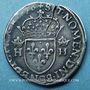 Monnaies Henri III (1575-1589). Teston au col plat 1576A. Paris