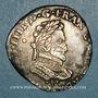 Monnaies Henri IV (1589-1610). 1/2 franc 1591 I et point 10e. Limoges