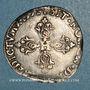 Monnaies Henri IV (1589-1610). 1/2 franc 1591I et point 10e. Limoges