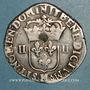 Monnaies Henri IV (1589-1610). 1/4 d'écu 1er type 1603 H et point 9°/10°. La Rochelle