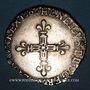 Monnaies Henri IV (1589-1610). 1/4 d'écu, 1er type, 1606 H et point 9°/10°. La Rochelle